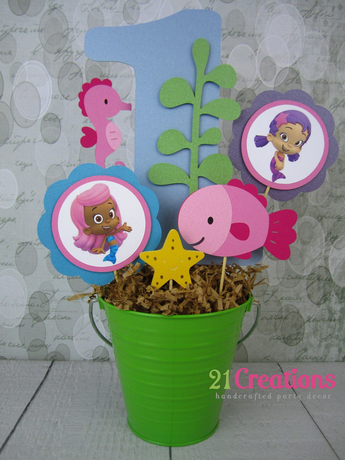 Unavailable listing on etsy - Bubble guppies center pieces ...