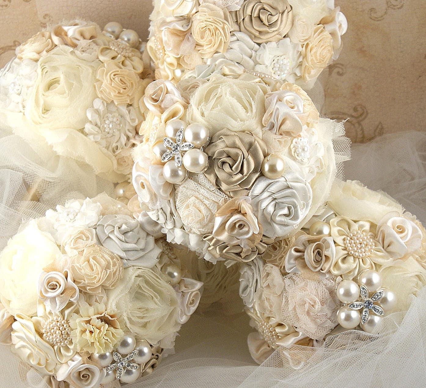 Подружки невесты брошь букеты Свадебный букет в Шампани и слоновой кости
