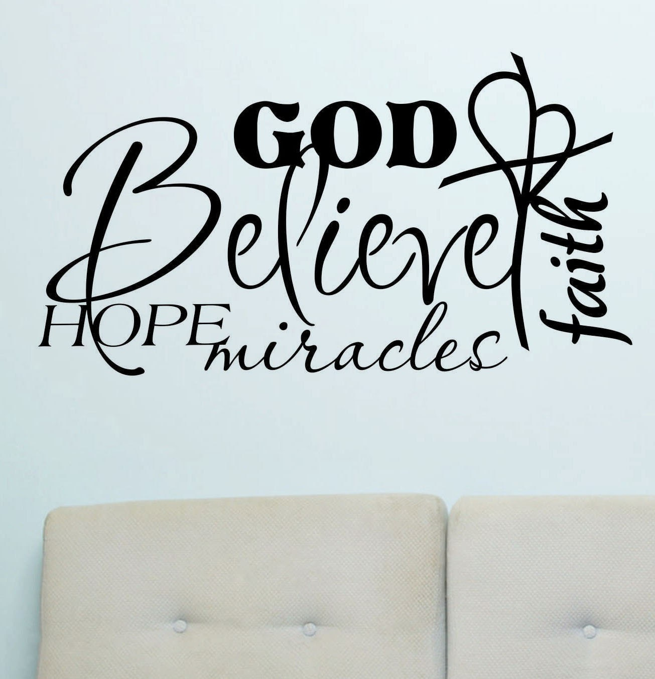 vinyl wall lettering words quotes religious by wallsthattalk With christian wall sayings vinyl lettering