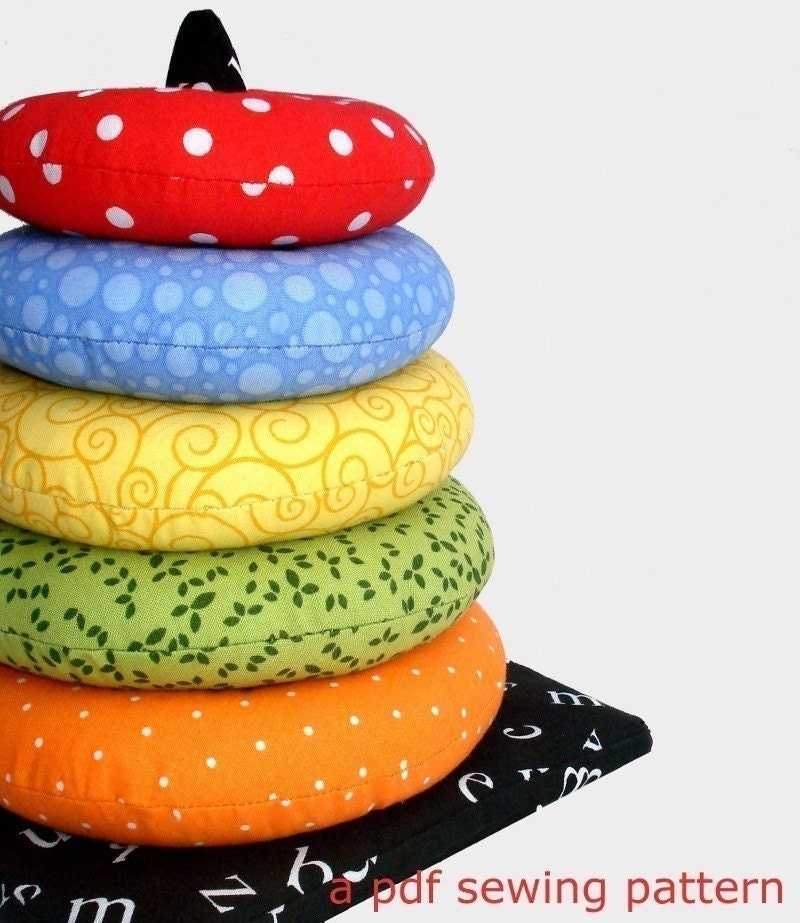 Ring Stacker Soft Toy, a pdf sewing pattern - free shipping