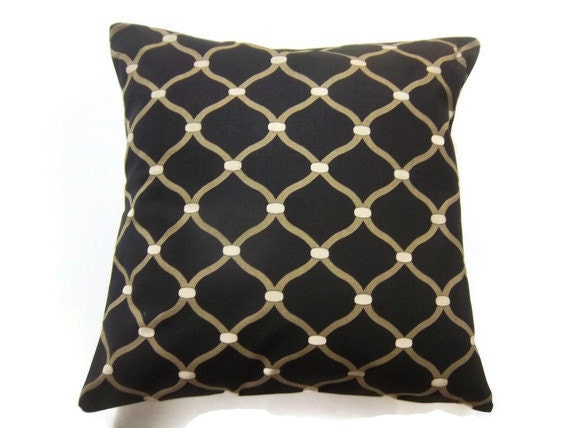 decorative pillow cover black metallic gold by. Black Bedroom Furniture Sets. Home Design Ideas