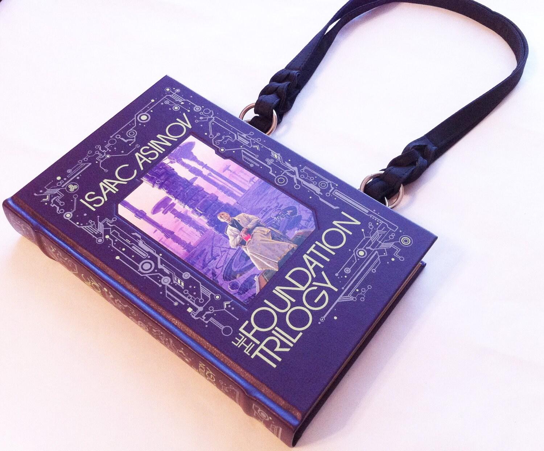 Isaac Asimov The Foundation Trilogy Book Purse - PREORDER