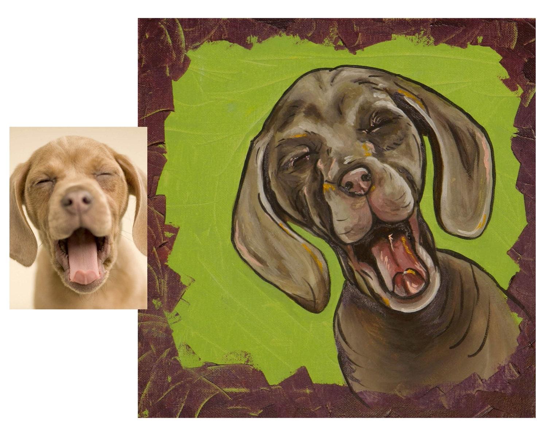 宠物肖像 水彩画  by 海浪是个小可爱