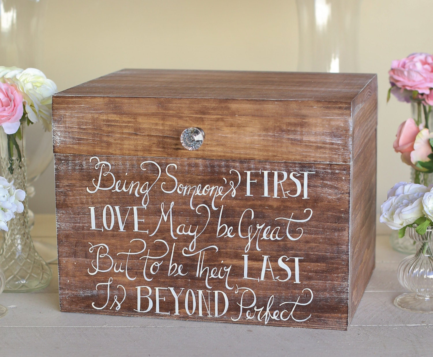 Wedding Shower Gift Card Box : Rustic Wedding Card Box Bridal Shower Keepsake Box Gift (Item Number ...