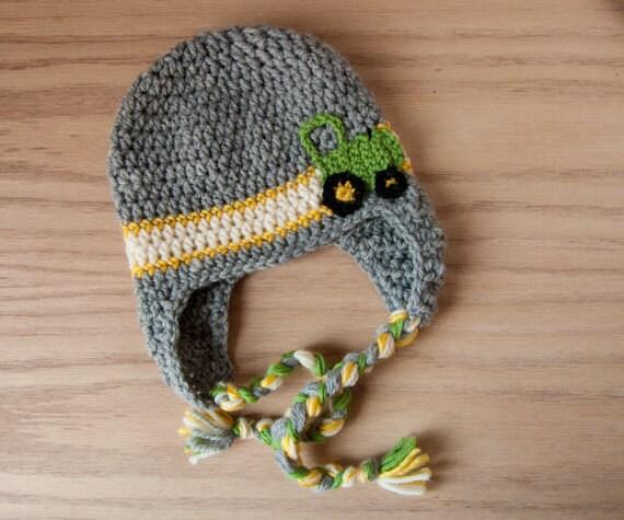 john deere baby crochet tractor hat baby by ...