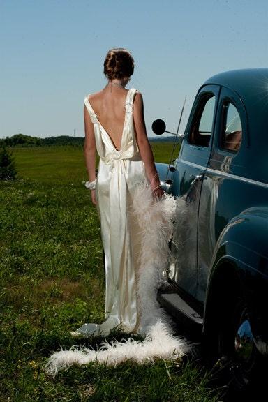 Handmade vintage inspired 1930s slipper by for Slipper satin wedding dress