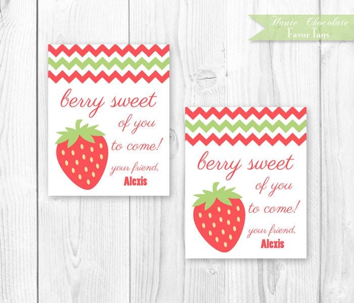 Items Similar To Strawberry Birthday Party
