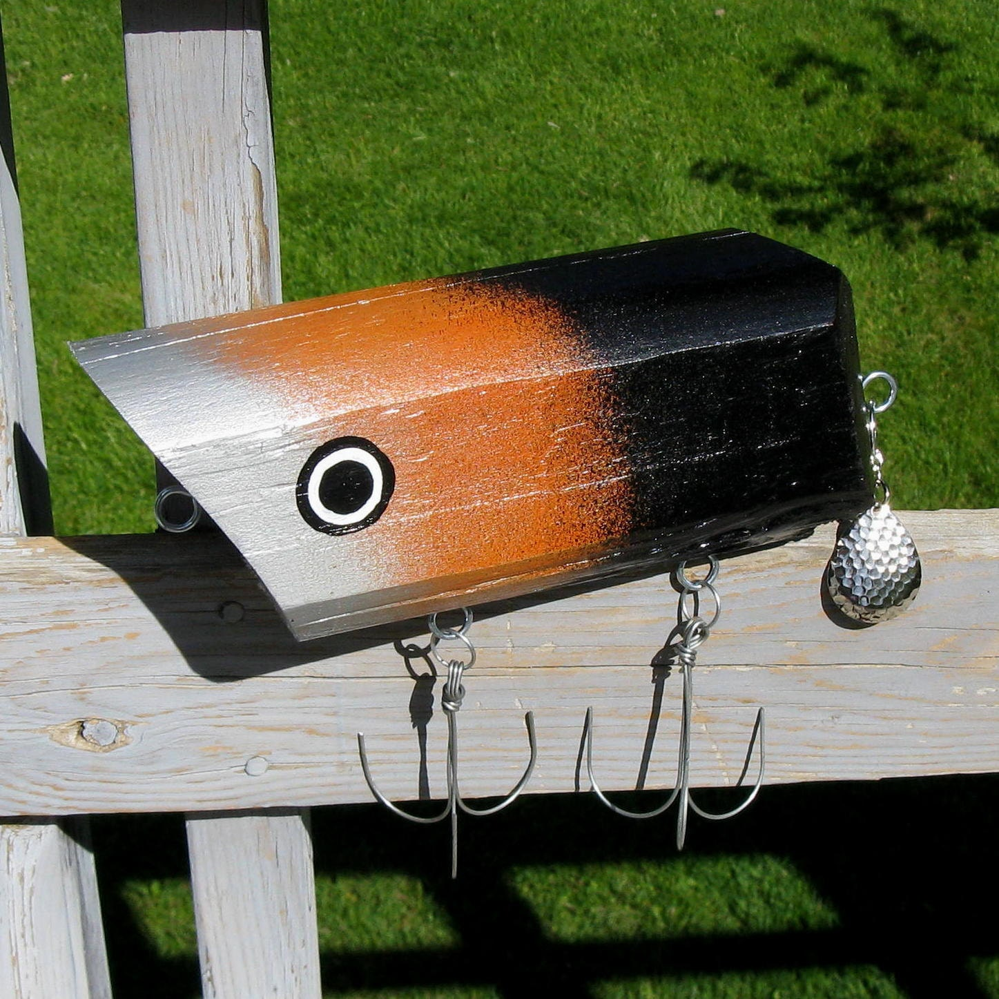 items similar to jumbo fishing lure cabin decor on etsy