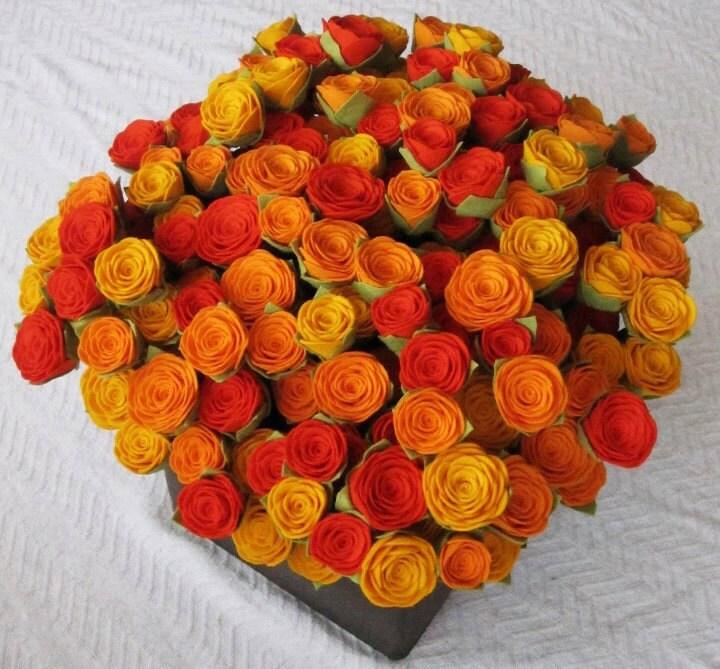 100 чувствовал, розы - выбрать свой цвет