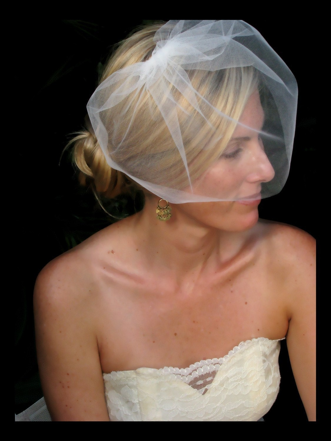 Destiny wedding veil, bridal veill, blusher veil, bridal hair accessories