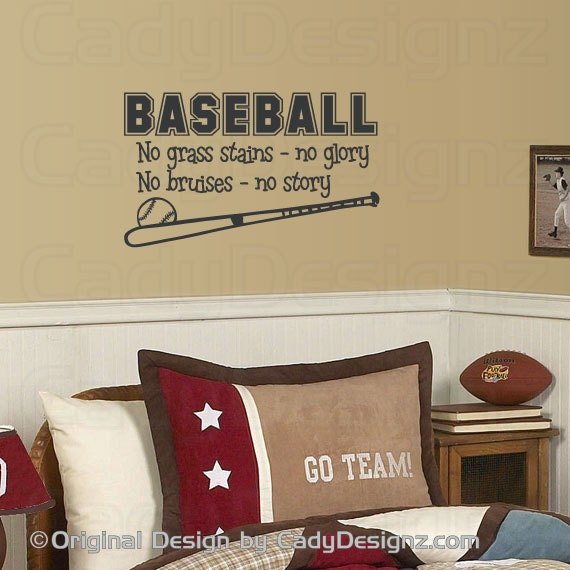 Baseball Wall Decals Etsy Vinyl Decal