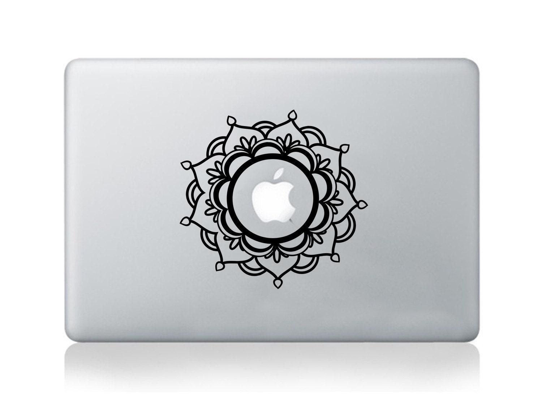 Mandala Macbook Sticker Decal Transfer Graphic Mandala Flower Floral Covers Skin Acer HP Dell Thinkpad Skin Decal