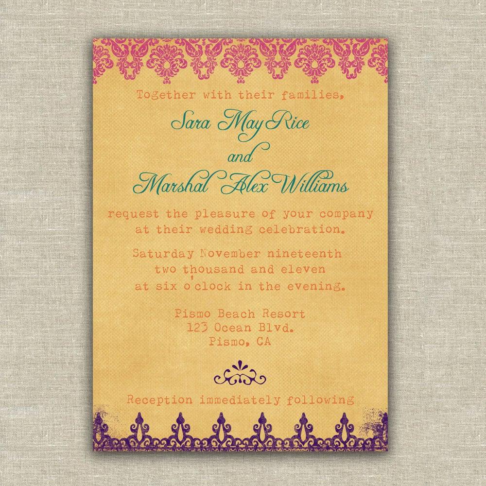 Items Similar To Wedding Invitation Sample Pack, Indian