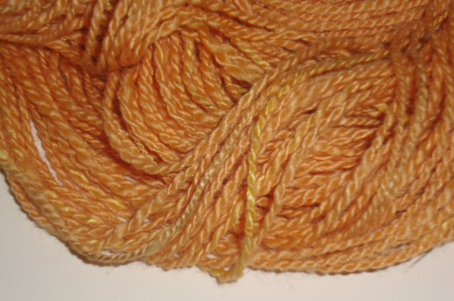 Madder, Saffron, and Onion Skin Dyed Handspun Yarn - SirenSongYarnsFiber
