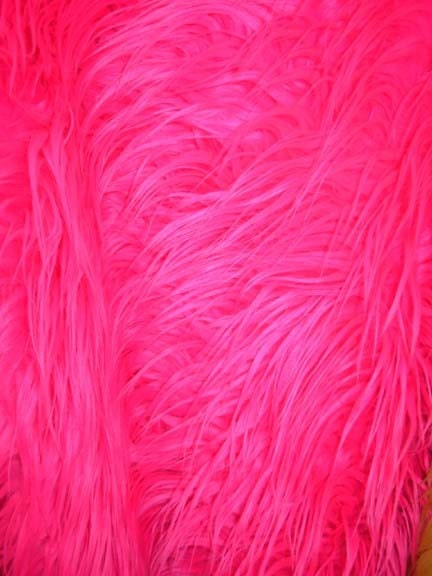 Pink fur carpet
