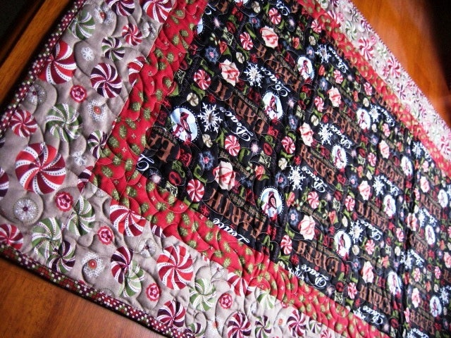 Christmas christmas by table Patchwork Runner  believe QuiltyMcQuilterson runner Table Quilted