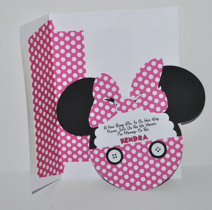 to minnie mouse inspired baby shower invitations qty 10 on etsy