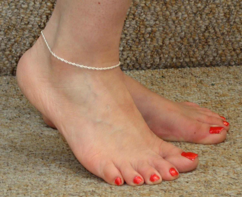 Silver anklet Silver rope anklet Silver ankle bracelet Minimalist jewelry Minimalist anklet Ankle bracelet UK