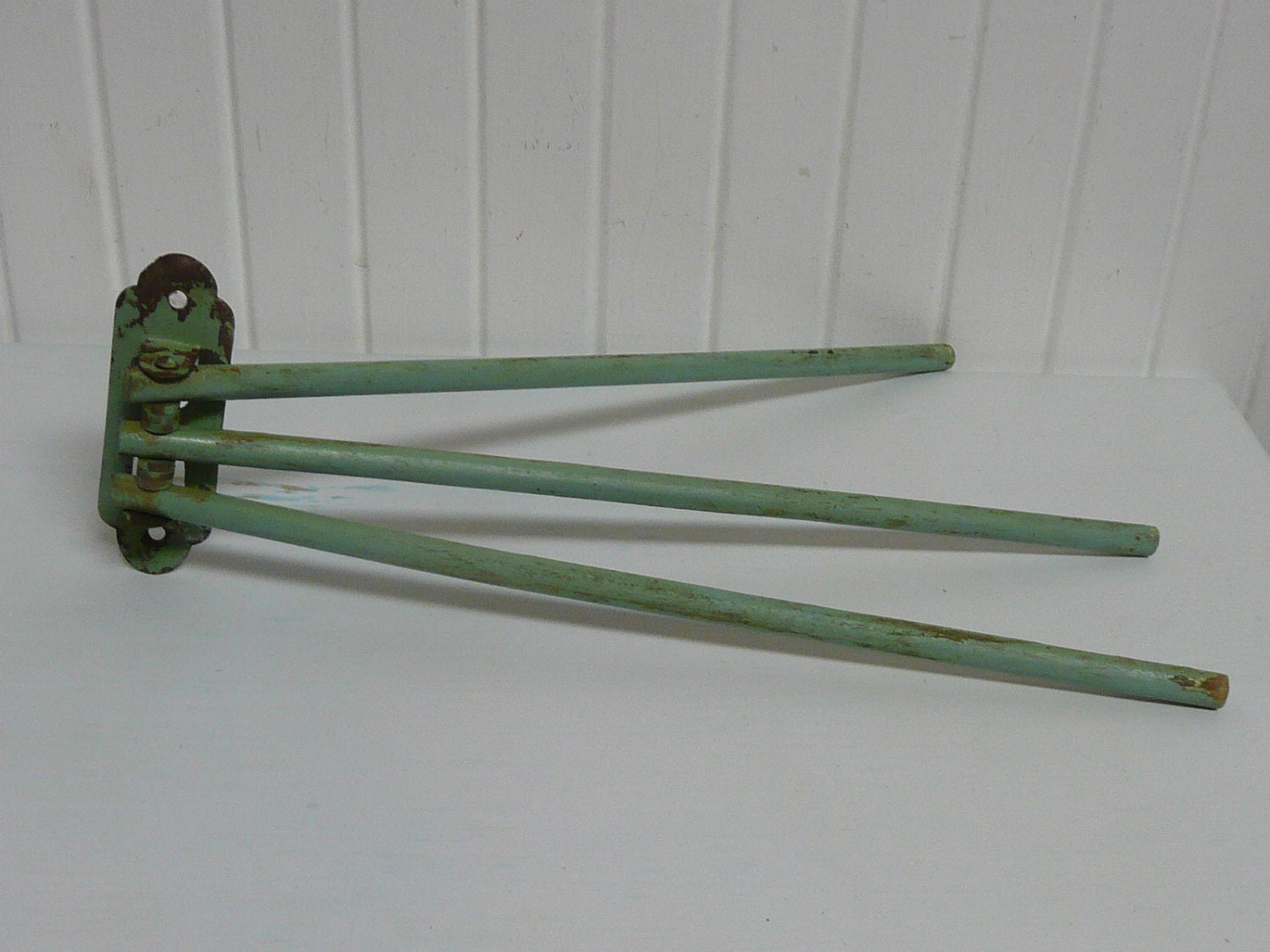 1940s Wooden Swing Arm Three Arm Towel Rack by ...