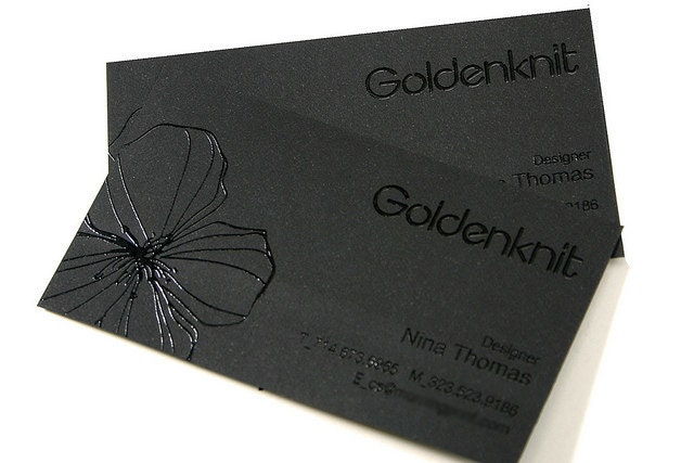 200 business cards black raised ink 14pt black by for 200 business cards