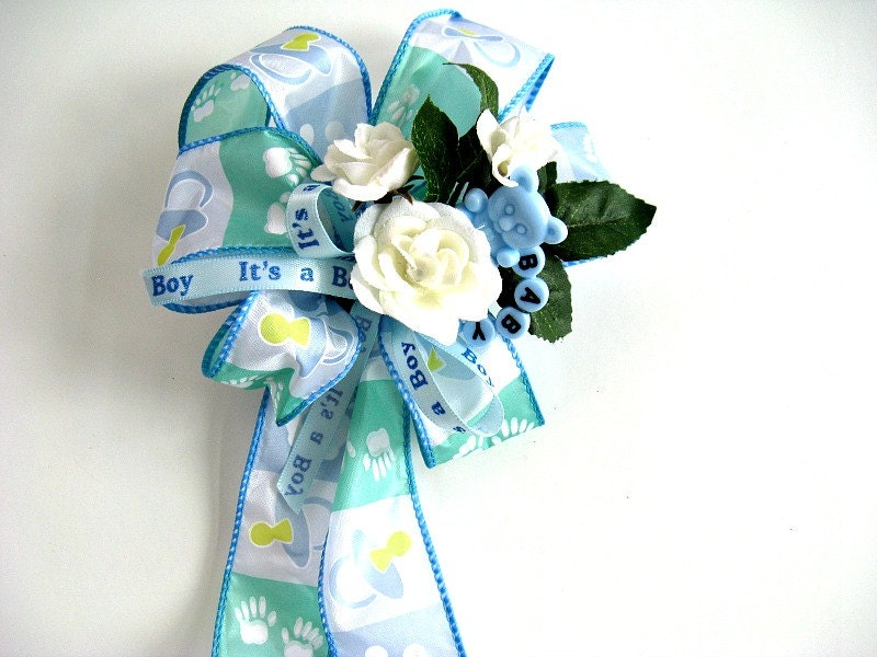 baby shower bow new baby gift bow gift wrap bow baby boy shower bow