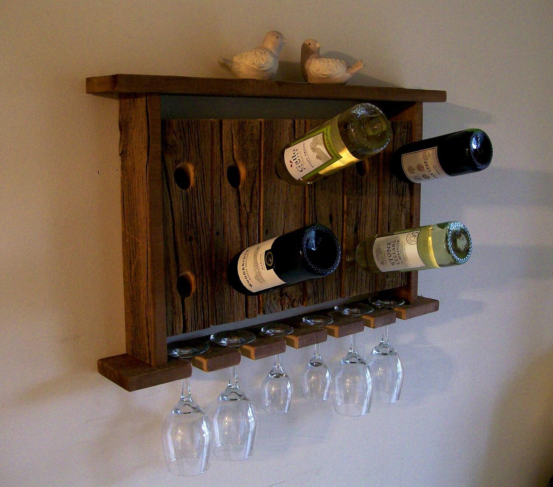 wine rack wine glass holder wall shelf riddling by. Black Bedroom Furniture Sets. Home Design Ideas