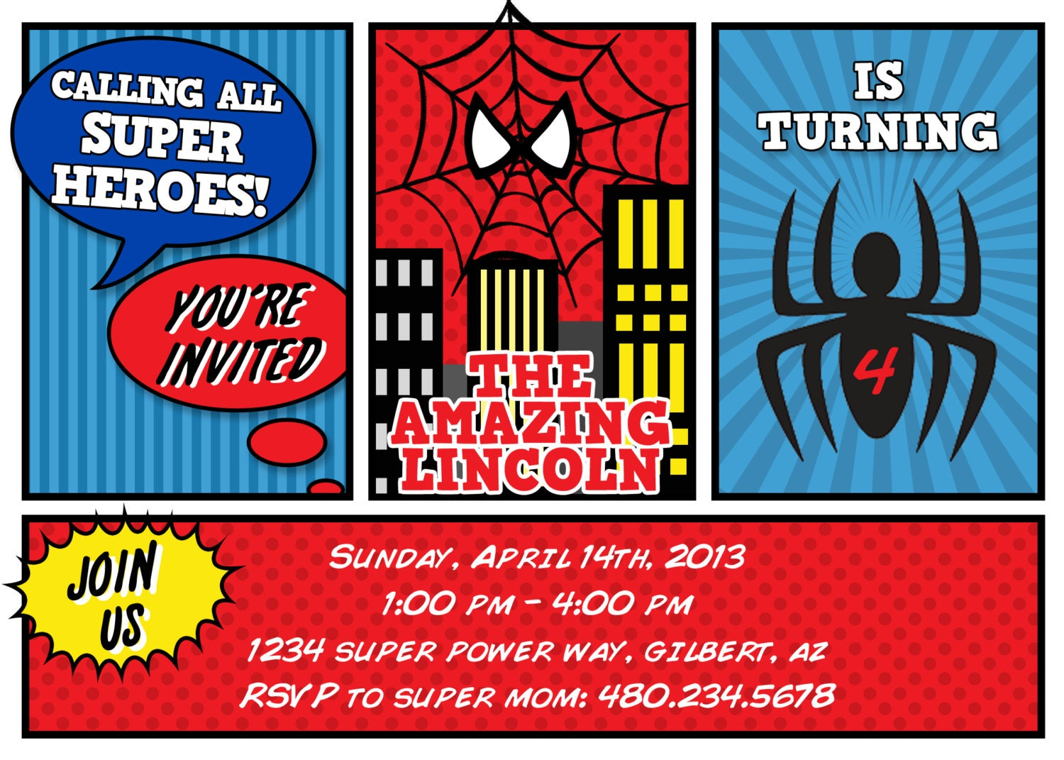Spiderman Party Invitations is an amazing ideas you had to choose for invitation design