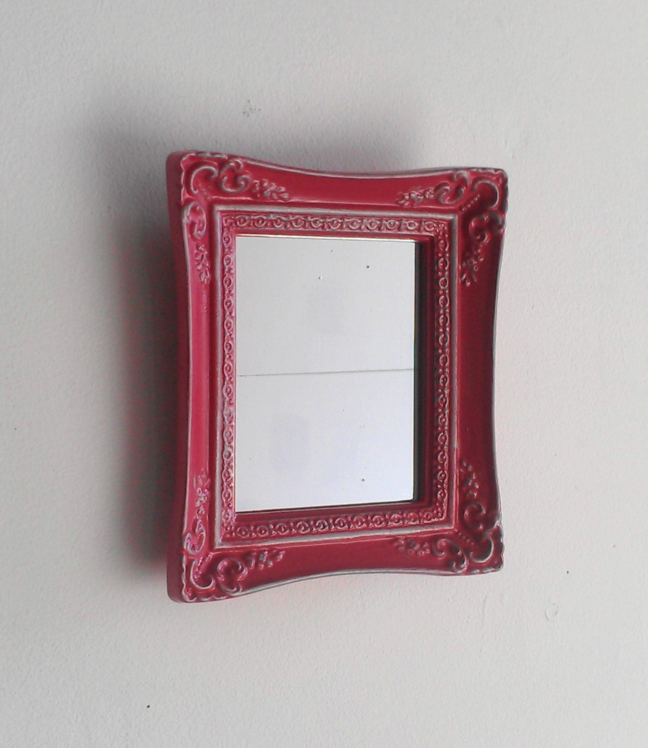 Small wall mirror in vintage baroque frame by for Small baroque mirror