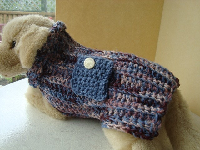 CROCHET PATTERN. Number. 100.... little Dog Sweater make it any size ...