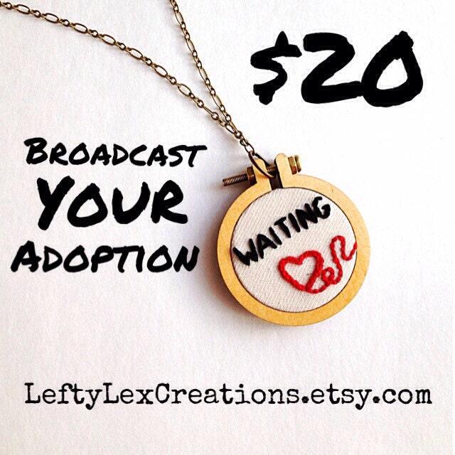 Adoption Mini Hoop Necklace