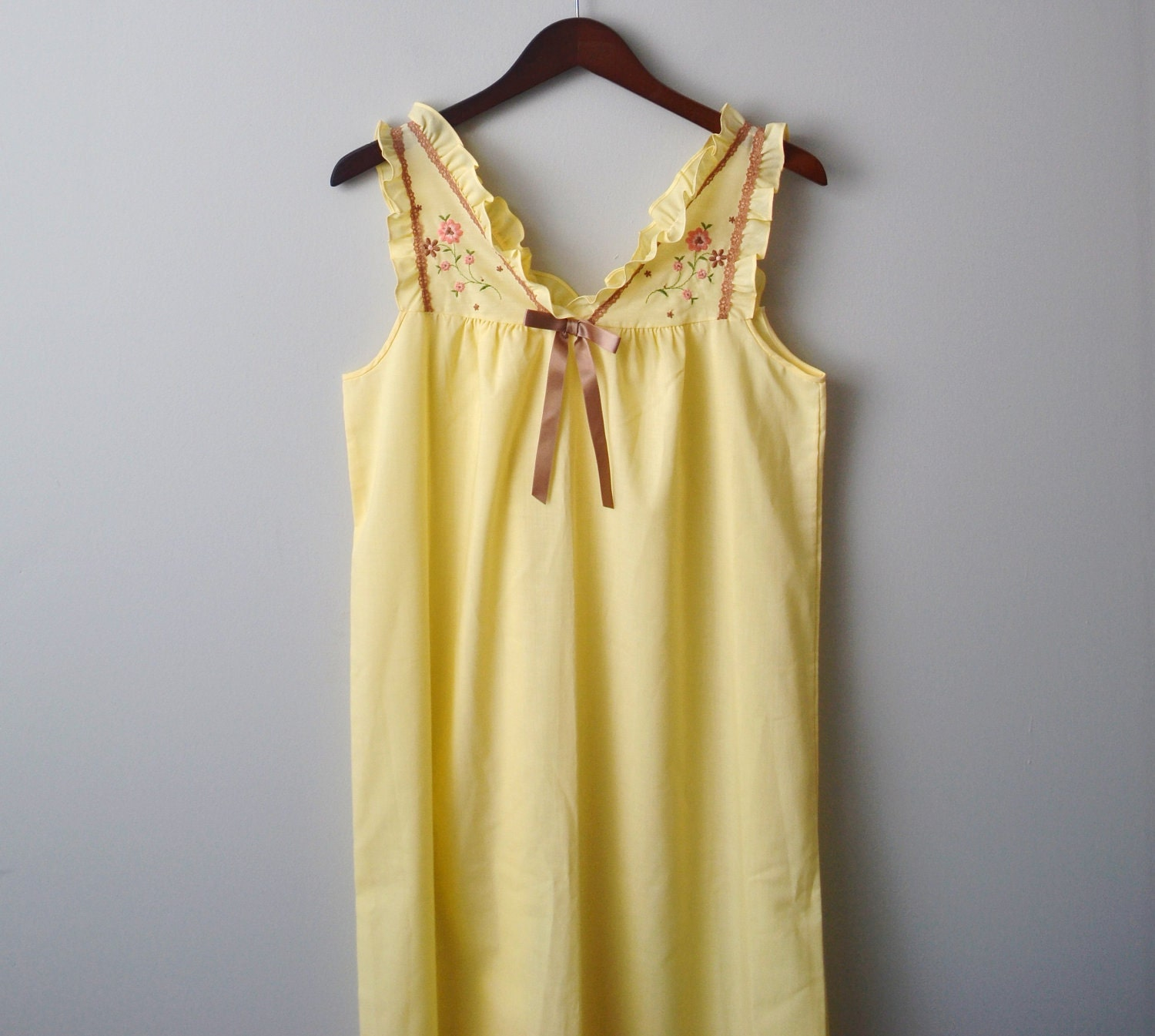 Vintage pastel country sleepwear long size aprox large - AlicjaVintage