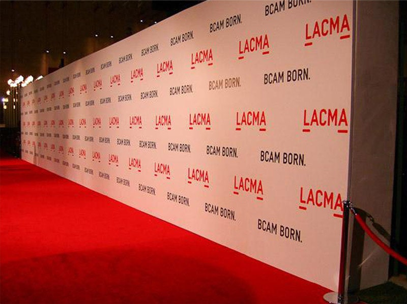 Red Carpet Backdrop Custom Your Logos Step And By TealPoodle