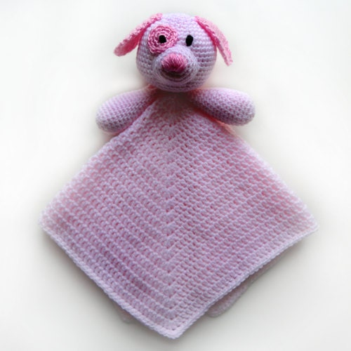Free Crochet Pattern For Animal Security Blanket : Dog Security Blanket PDF Crochet Pattern by ...