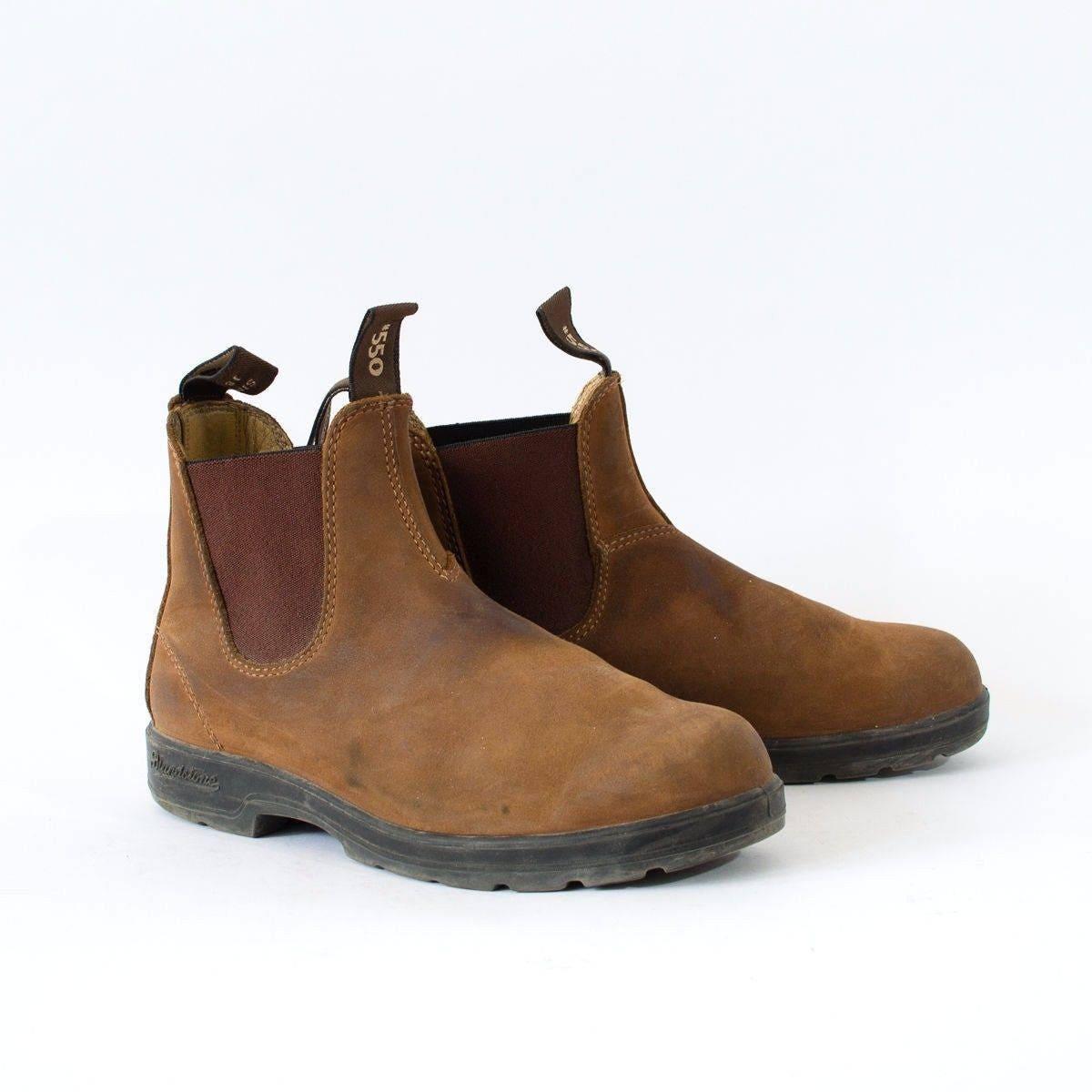 Vintage Brown Real Leather Chelsea Boots Festival Mens UK 6 EU 39 US 7