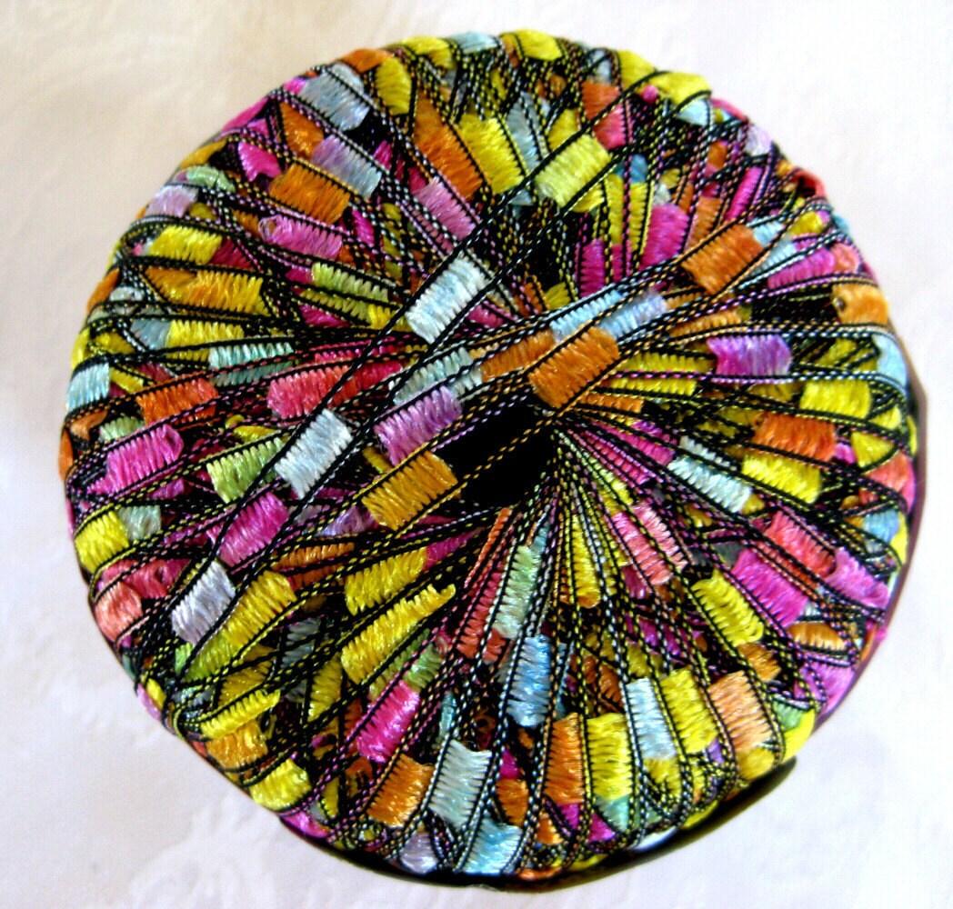 lion brand trellis yarn pastel garden pink blue by crochetgal