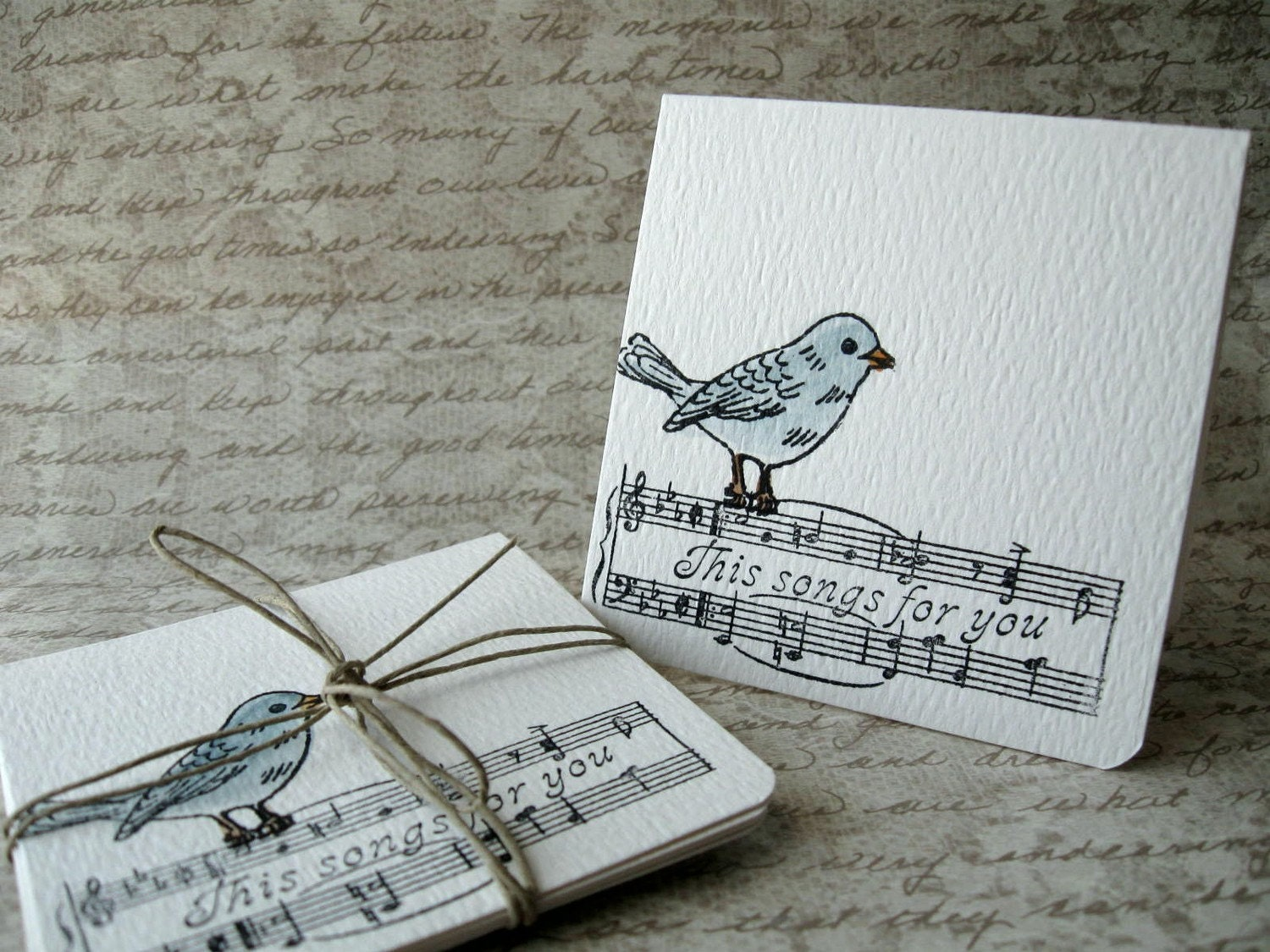 BIRD Notecards Note Cards Set/5 This Song's For You