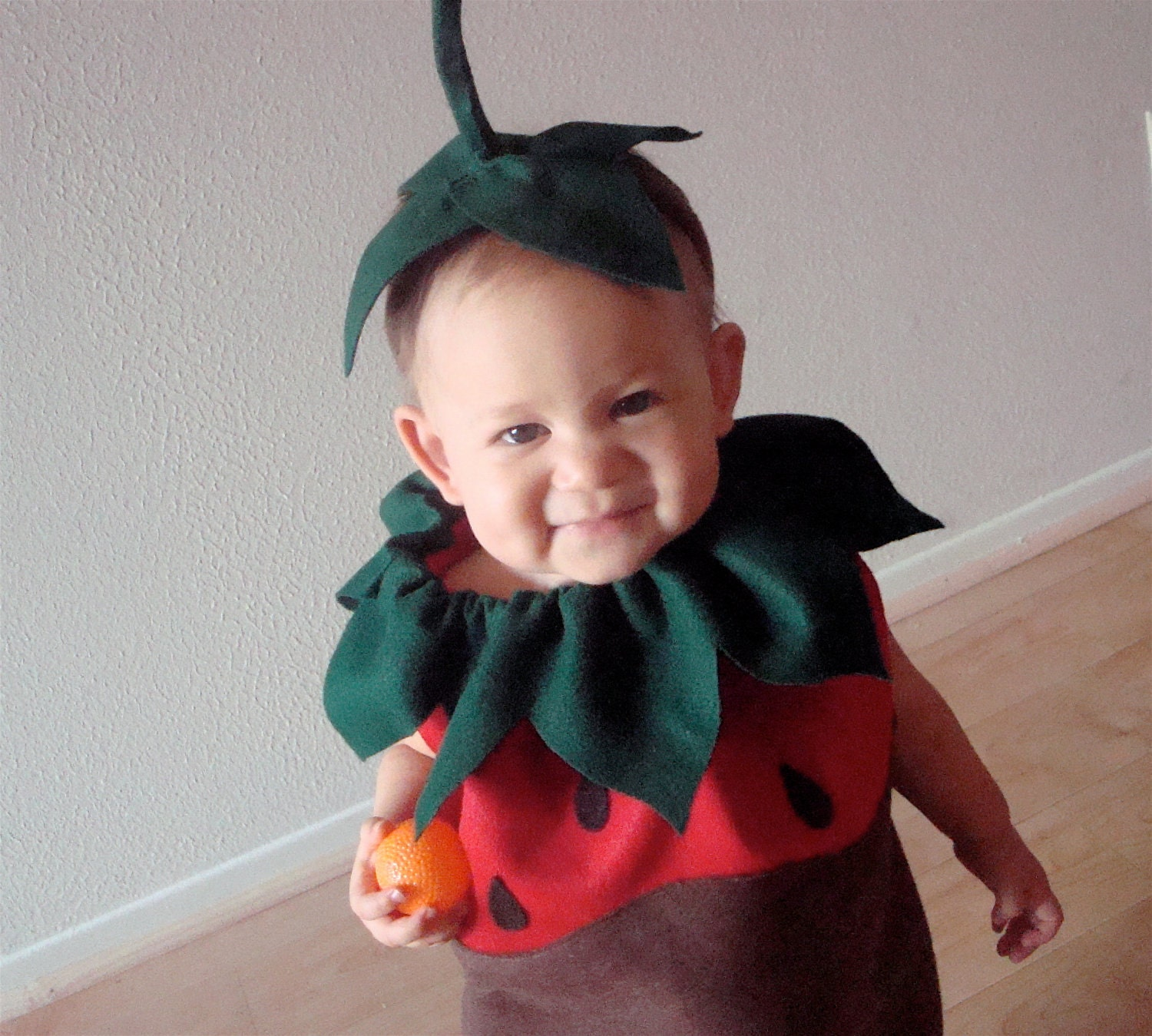 Chocolate Dipped Strawberry Baby or Toddler Costume
