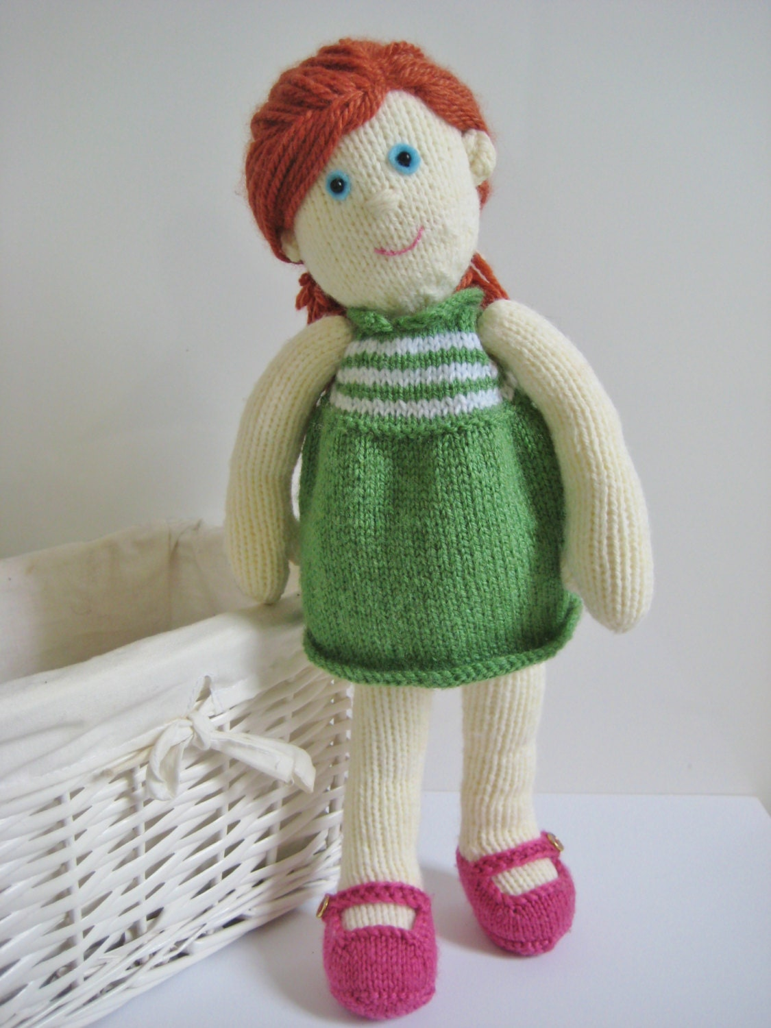 Knitting Patterns For Toys On Etsy : Lily Doll toy knitting pattern by Amanda Berry by fluffandfuzz