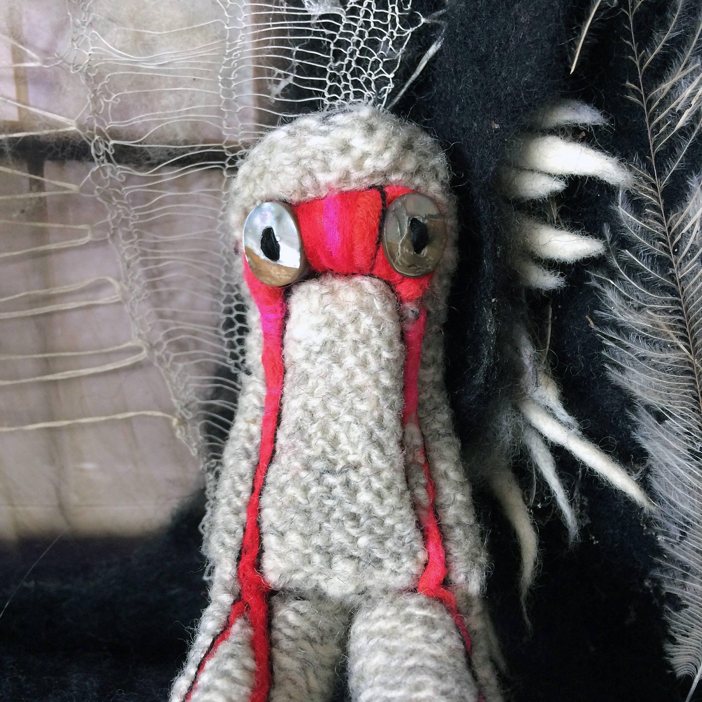 Blood Creature Creepy Cute Macabre Oddity Art Doll Horror Art Decor Soft Sculpture Art Textile