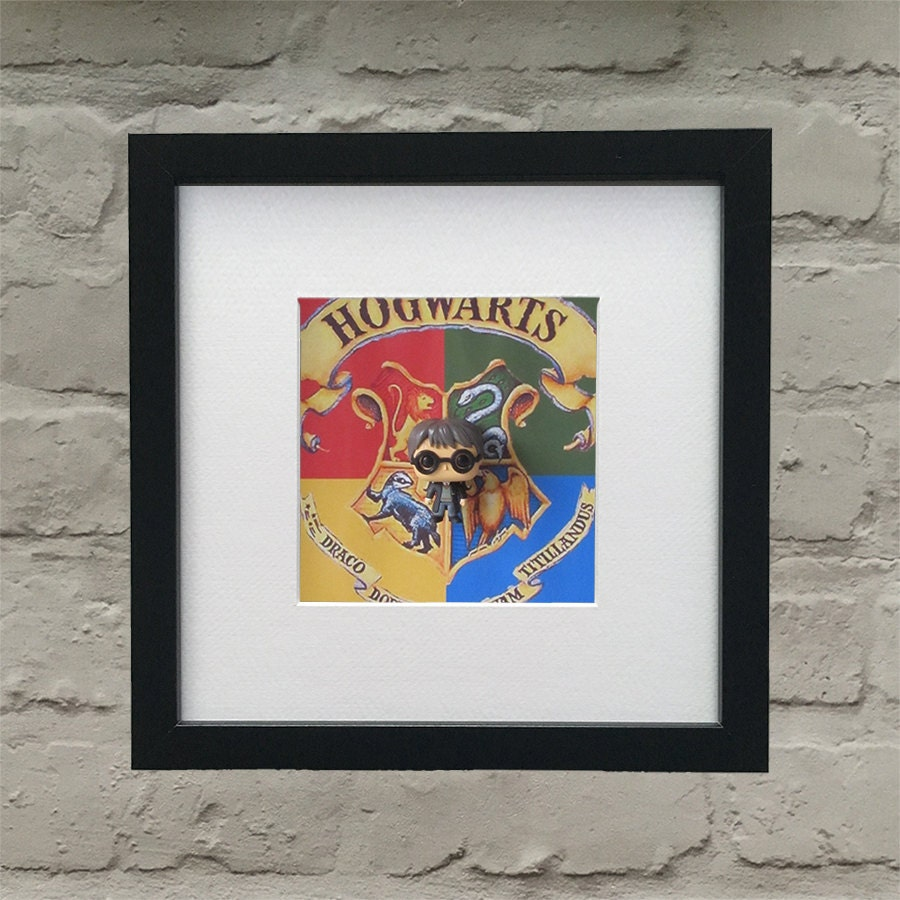 Harry Potter Inspired Hogwarts Harry Potter 3D Effect Framed Wall Art
