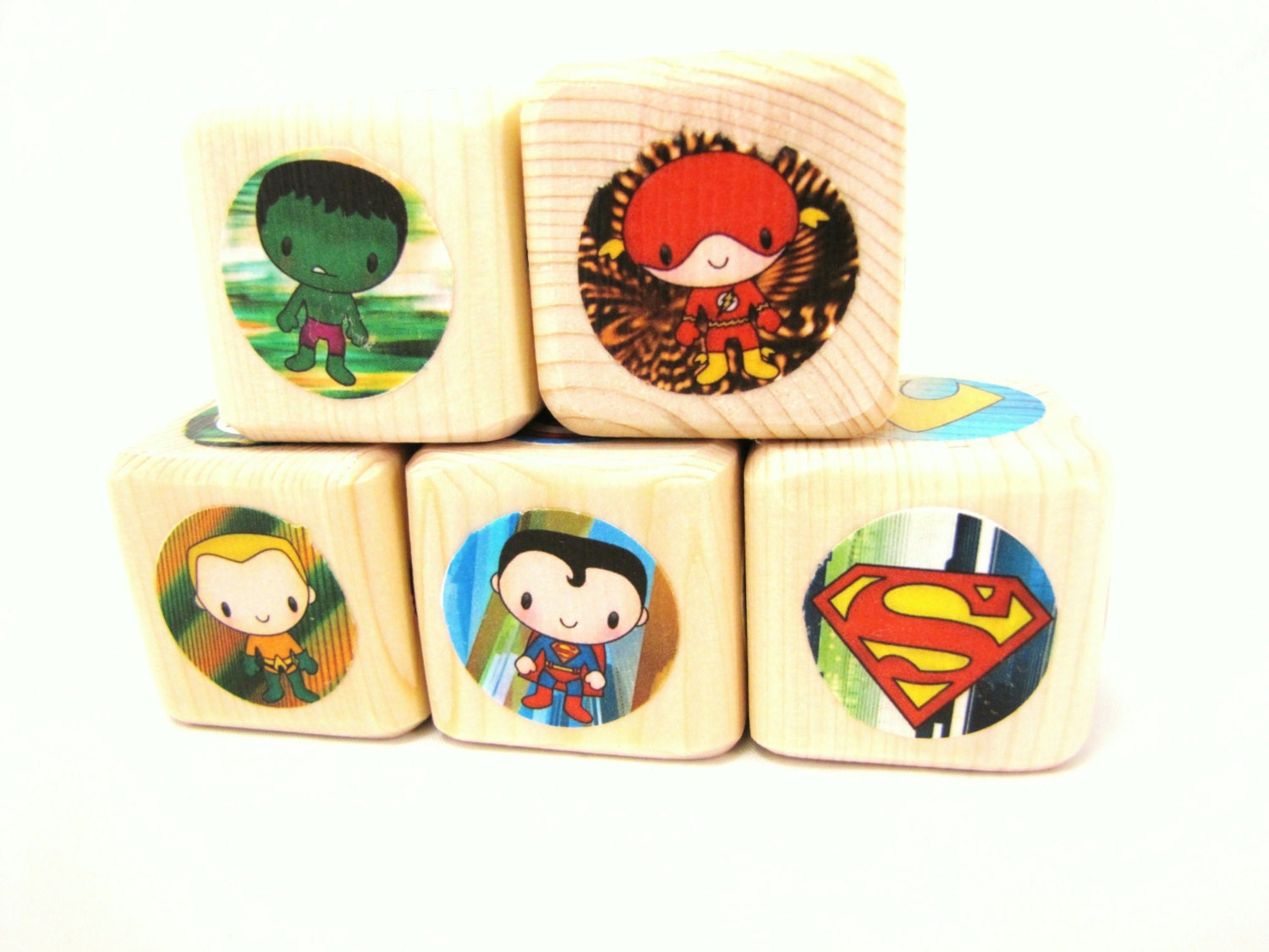 Superheroes. Blocks. Wood Toy. Baby Shower and Nursery Decor. Boy birthday toddler gift. Easter gift - MiaBooo