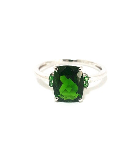 popular items for chrome diopside ring on etsy