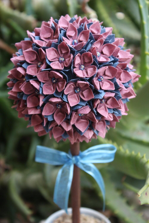 Origami Paper Flower Topiary Desert Bloom - HanaGarden