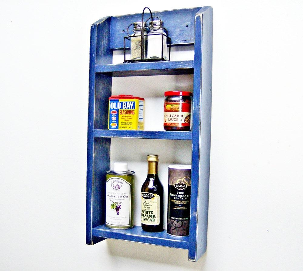 Kitchen Shelf Spice Rack Wall Organizer by BlueRidgeSawdust