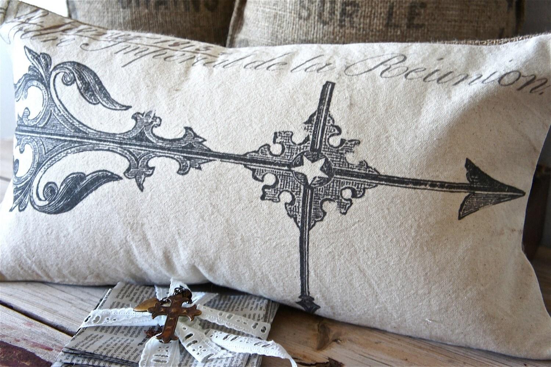 Ручной рукопечатных Чехол - 12x22 - weathervain подушку