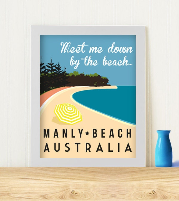 "Original Art Print ""Meet me down by the beach"""