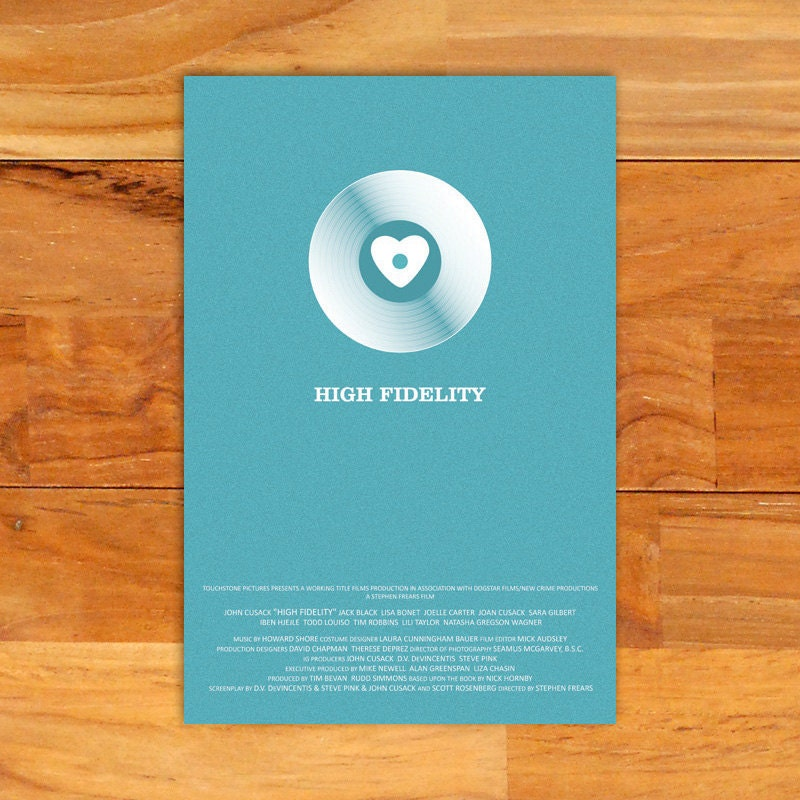 high fidelity alternative film poster   12quot  x 18quot