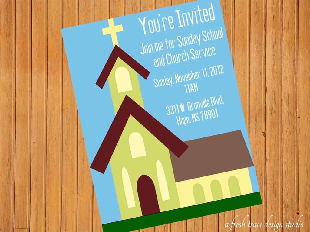 Sunday School Invitation Flyer is luxury invitation layout