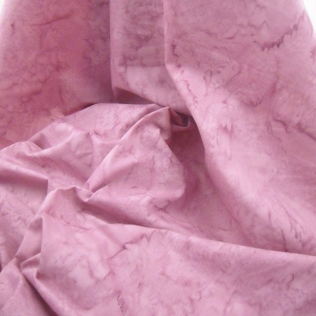 Batik Fabric Hand Dyed Cotton Watercolors - Pink - 1 YD - FabricFascination