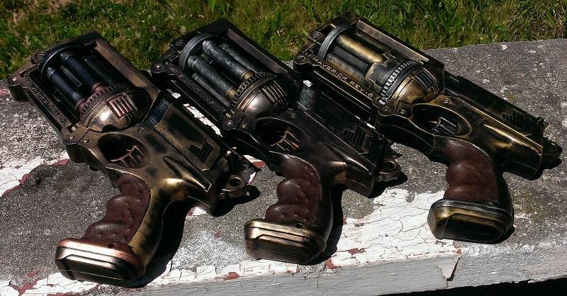 Nerf Maverick Custom Steampunk Service Revolver - TheAlchemoose